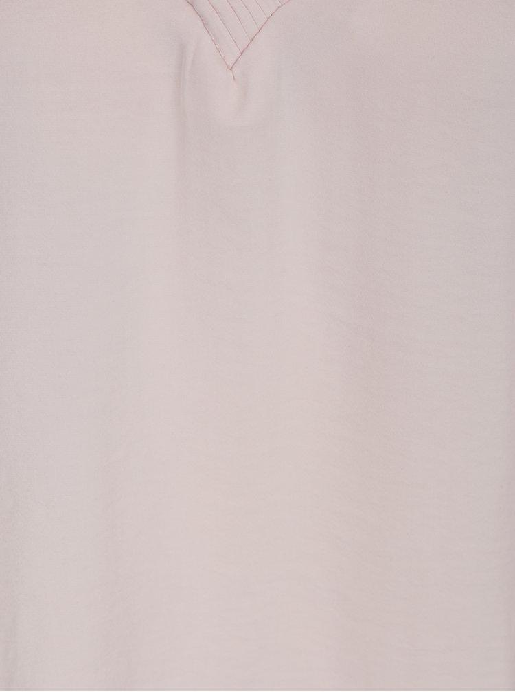 Světle růžová halenka s 3/4 rukávem VILA Rustic