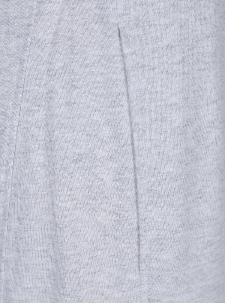 Světle šedé dámské žíhané tepláky Nike Sportswear Gym