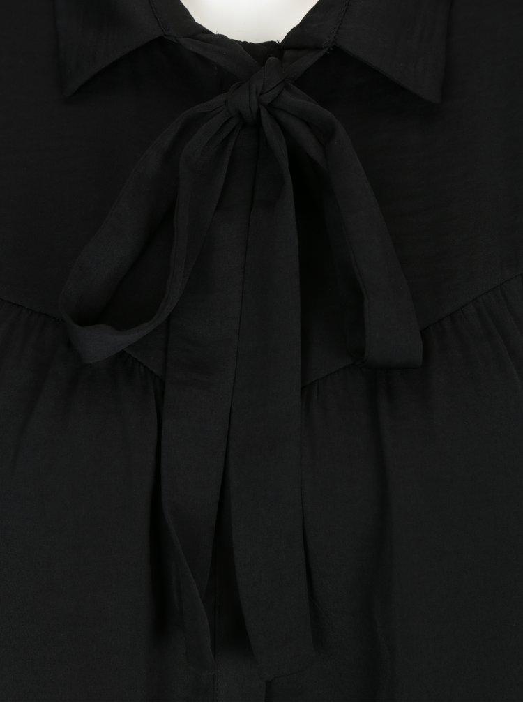 Černá halenka s vázankou VILA Melli