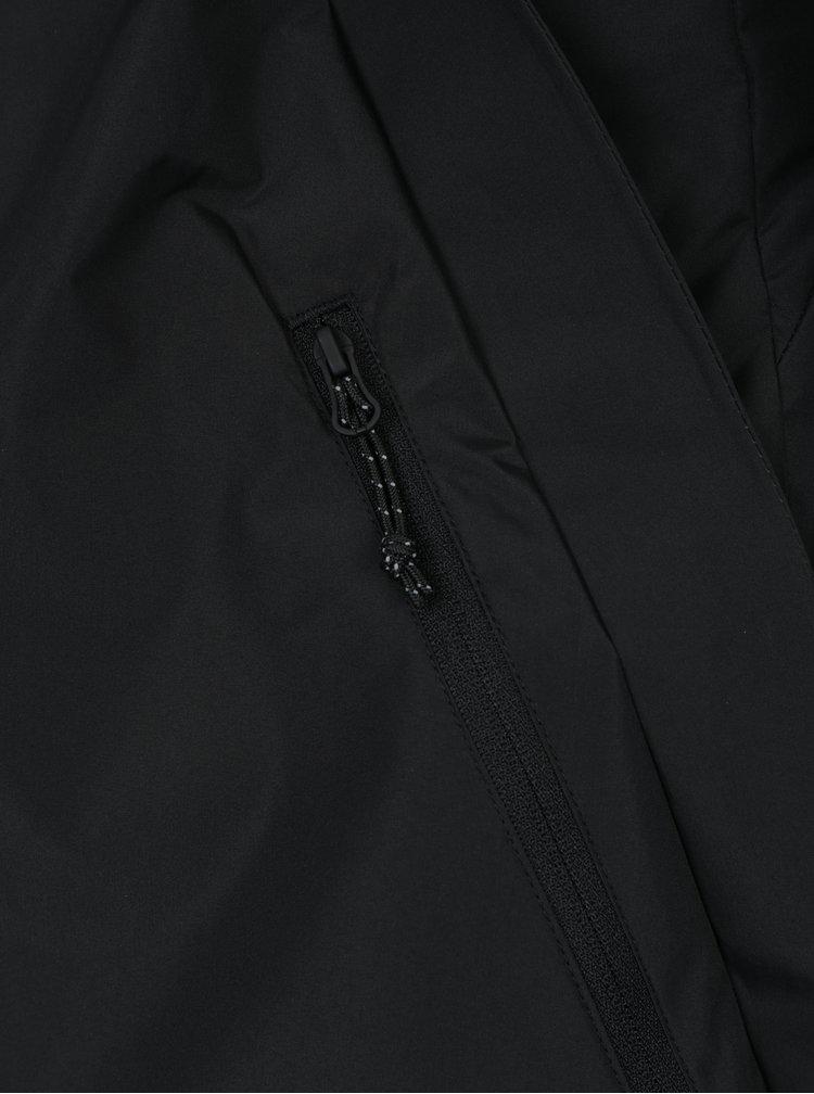 Černá funkční bunda s asymetrickým zipem Jack & Jones Tedge