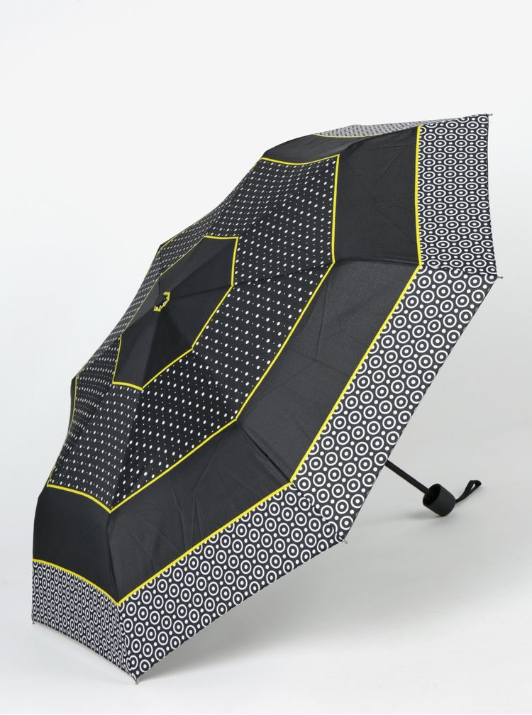 Černý dámský vzorovaný deštník Derby