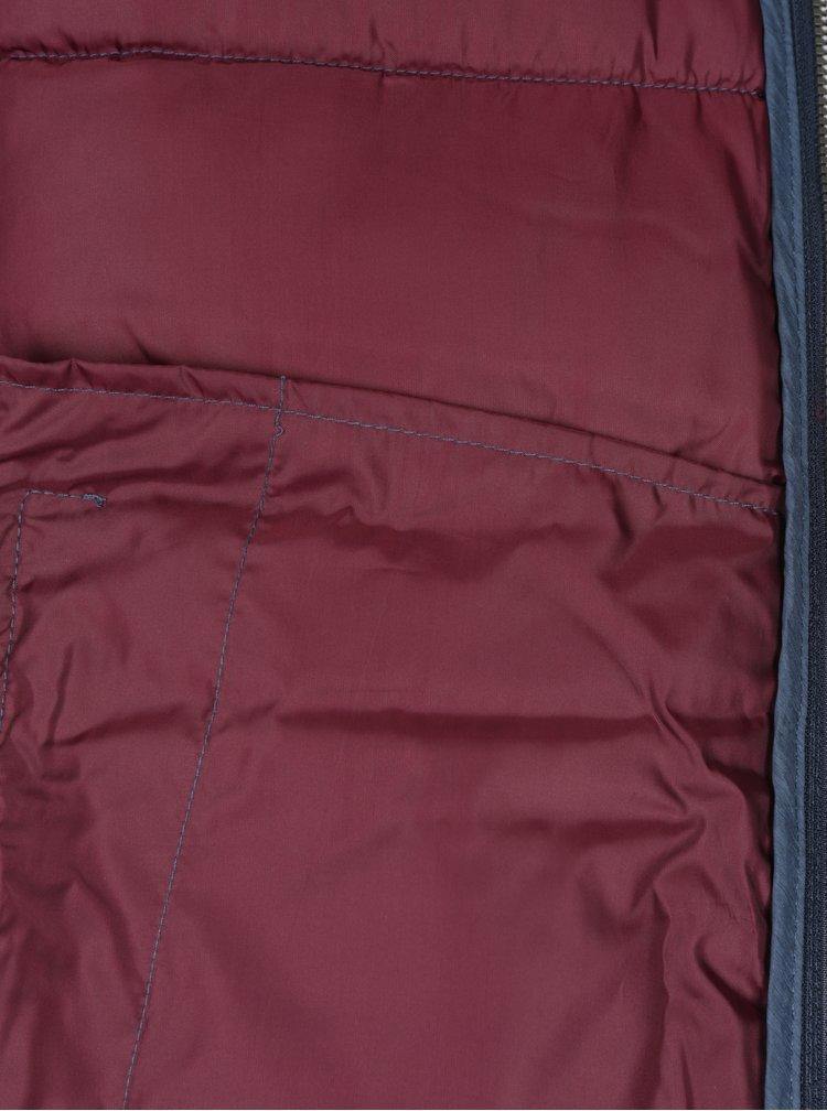 Modrá prošívaná bunda s kapucí Jack & Jones New Favorite