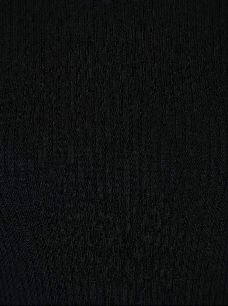 Černý rolák s volány na rukávech VERO MODA Norwalk