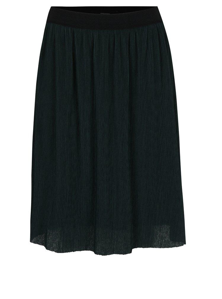 Tmavě zelená plisovaná sukně VERO MODA Mila