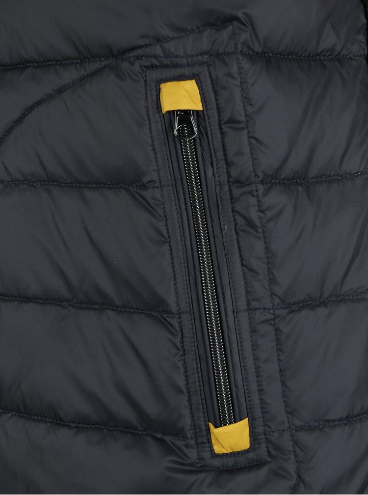 Tmavě modrá pánská prošívaná péřová vesta
