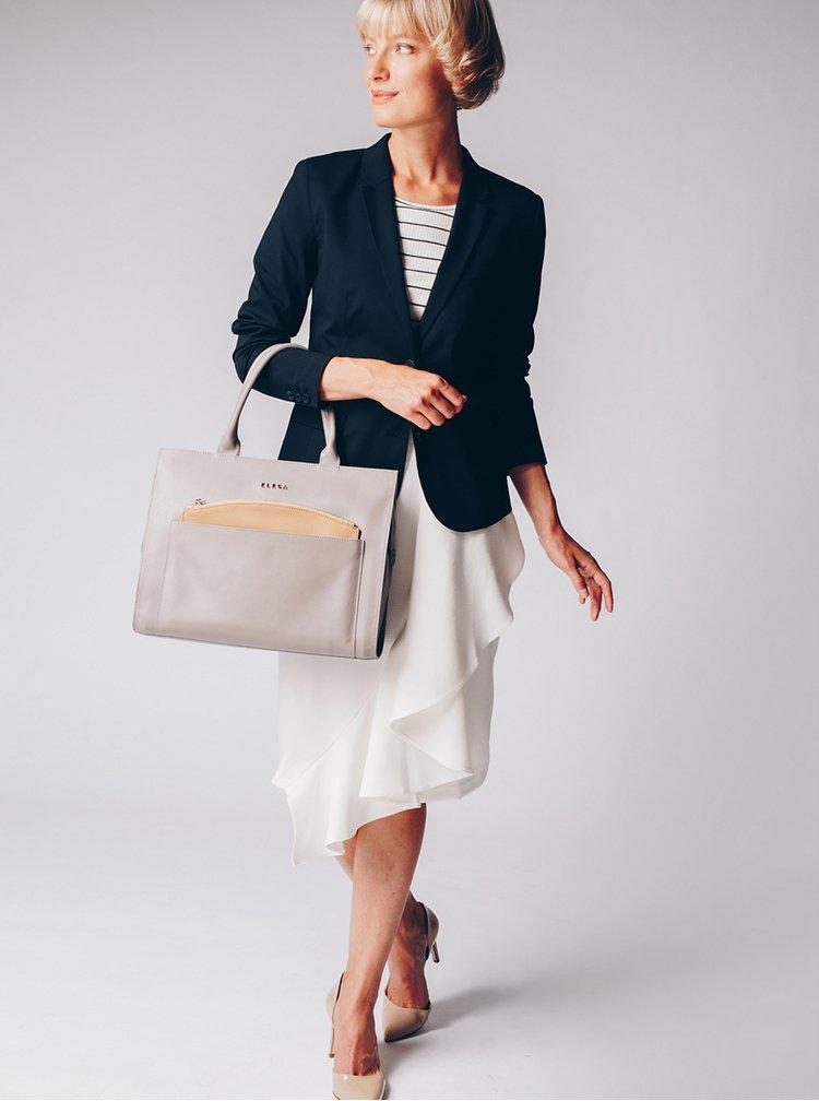 Krémová sukně s volánem Closet