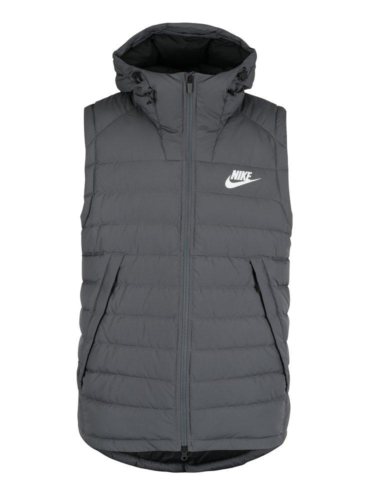 Vestă gri matlasată pentru bărbați Nike Sportswear Down