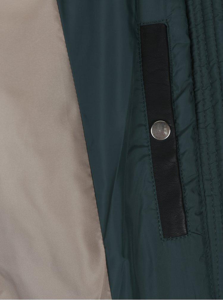 Tmavě zelená prošívaná bunda VERO MODA Clarissa