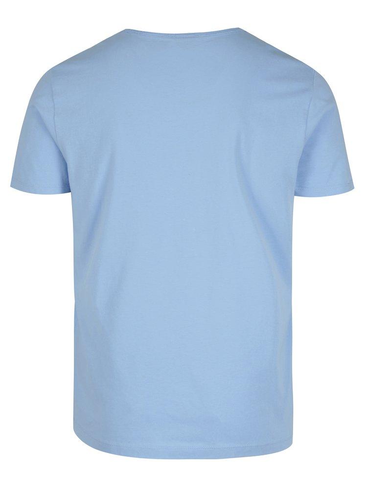 Světle modré pánské tričko s krátkým rukávem s.Oliver