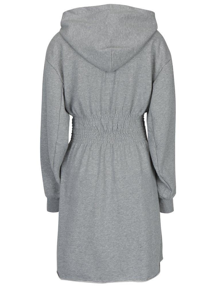 Šedé mikinové šaty s kapucí Cheap Monday