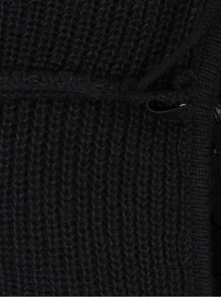 Černý svetr s příměsí vlny z alpaky VERO MODA Buena
