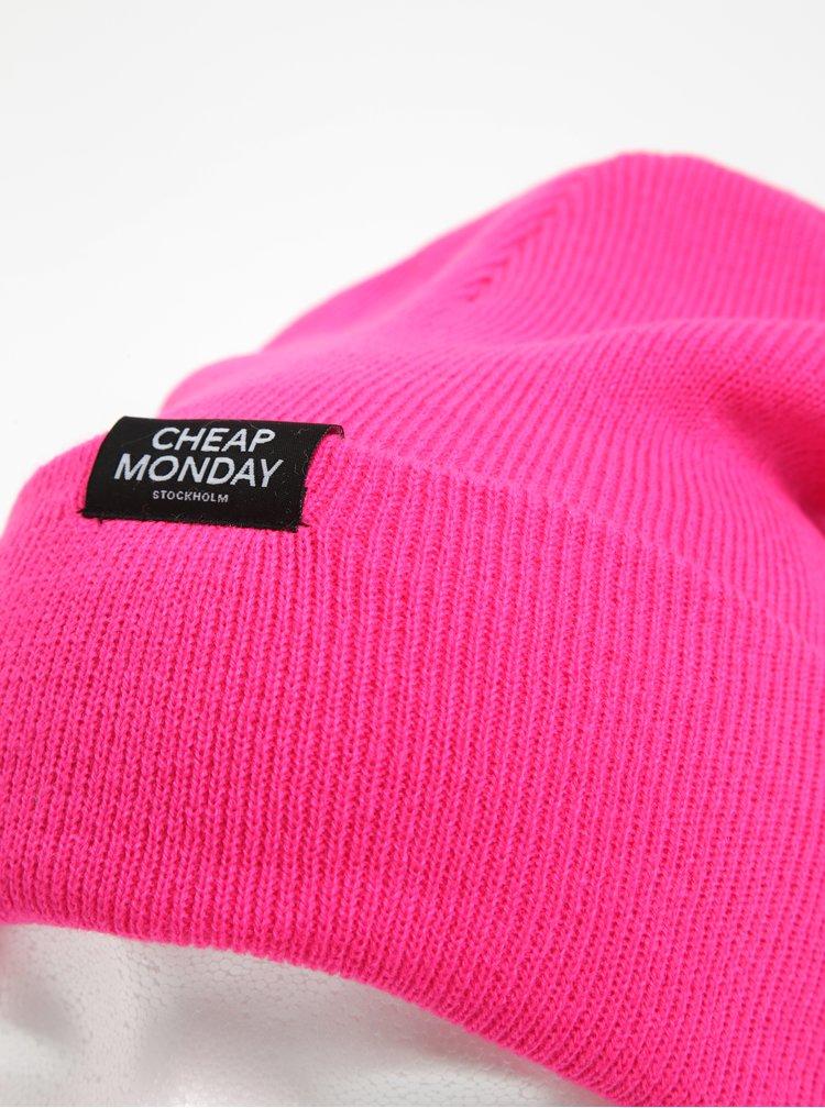 Růžová unisex čepice Cheap Monday