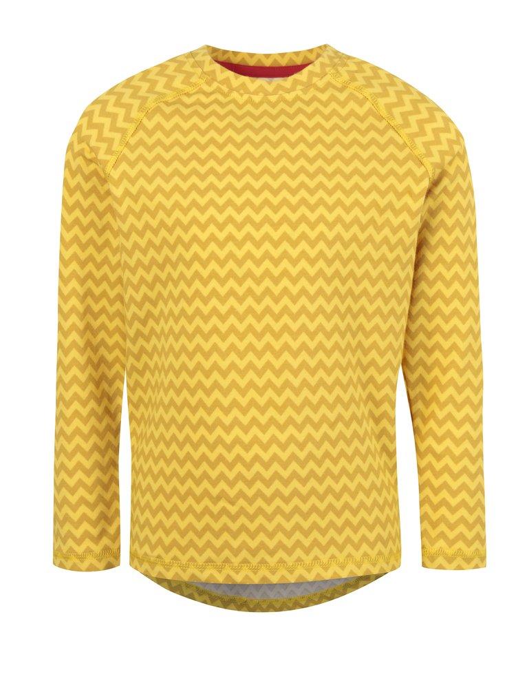 Žluté dětské funkční tričko s dlouhým rukávem Reima Tiptoe