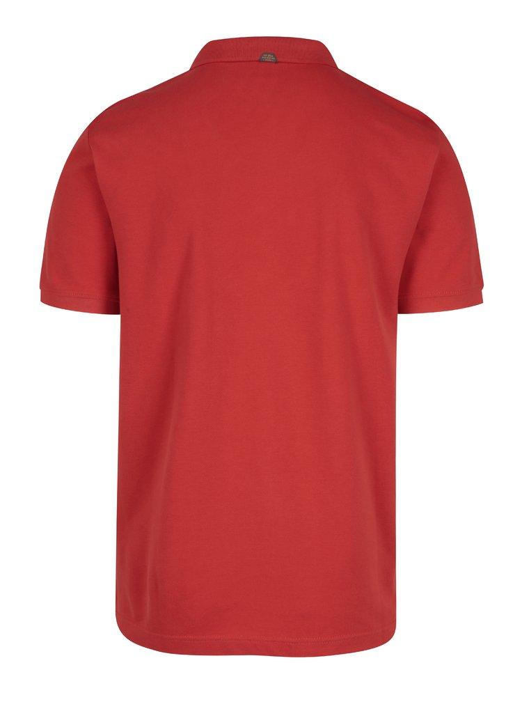 Červené pánské polo tričko s krátkým rukávem s.Oliver