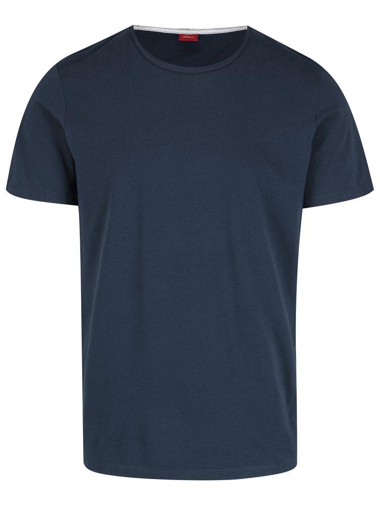 Tmavě modré pánské tričko s krátkým rukávem s.Oliver