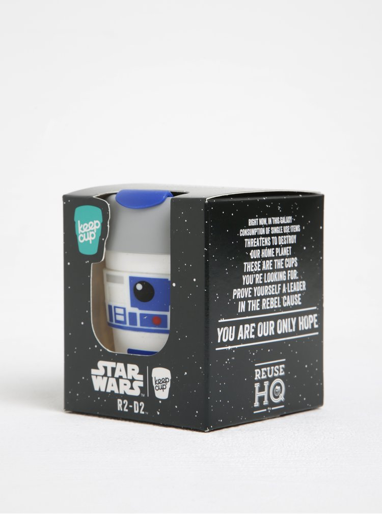 Cana alba de calatorie cu tematica  Star Wars KeepCup R2D2 Original Small