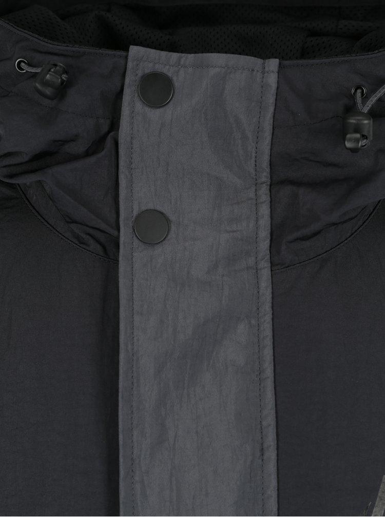 Geaca gri cu negru cu gluga pentru barbati Nike Sportswear Air