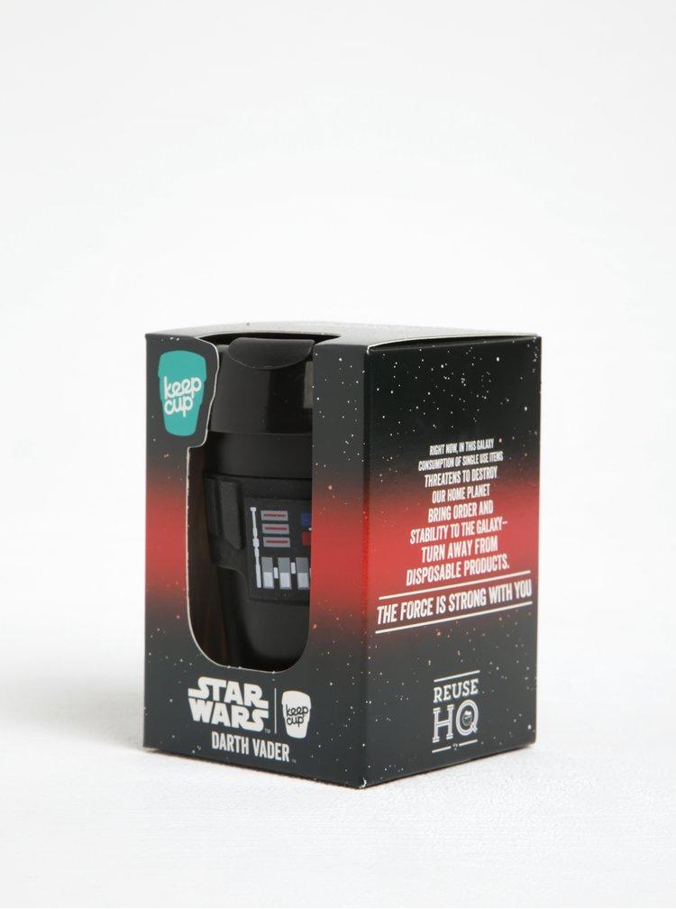 Cană neagră de călătorie cu tematica  Star Wars KeepCup Darth Vader Original Medium