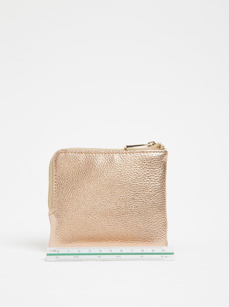 Lesklá dámska peňaženka na mince v ružovozlatej farbe Mi-Pac Coin Holder