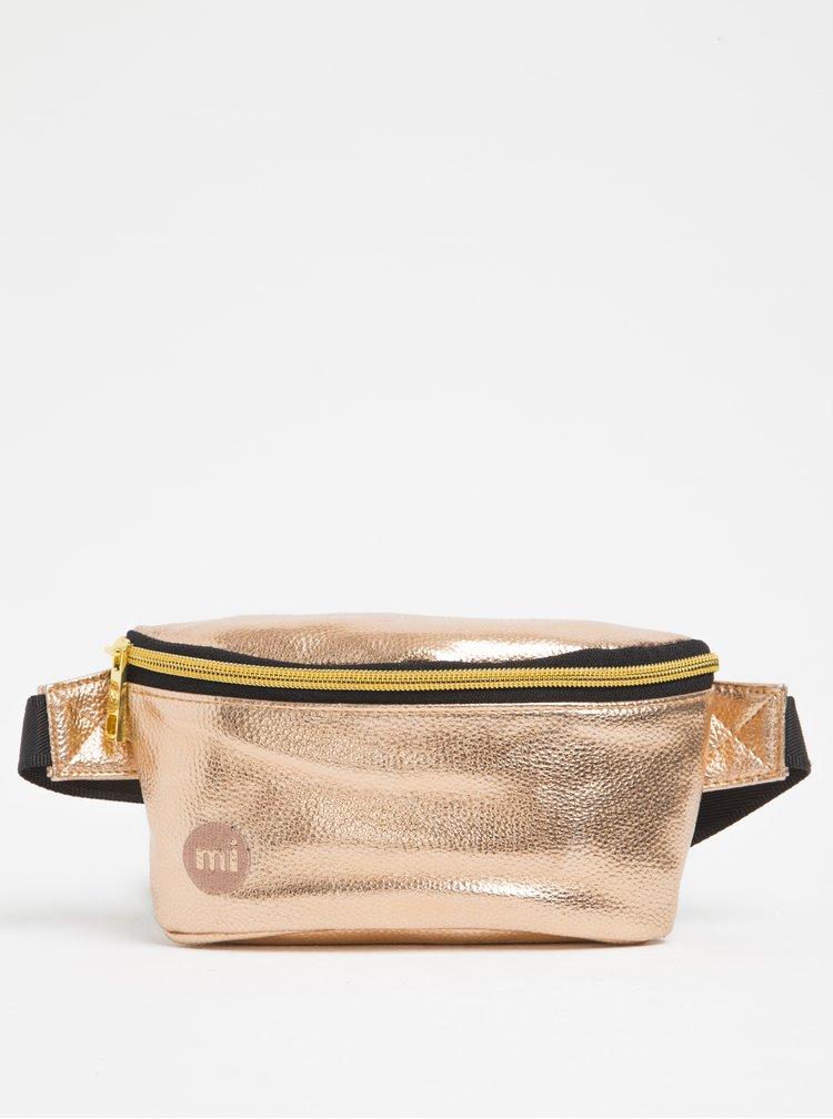 Dámská metalická ledvinka v růžovozlaté barvě Mi-Pac Bum Bag Metallic