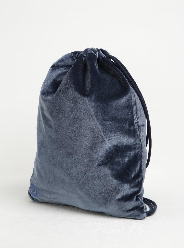 Rucsac albastru din catifea pentru femei - Mi-Pac Kit Bag Velvet