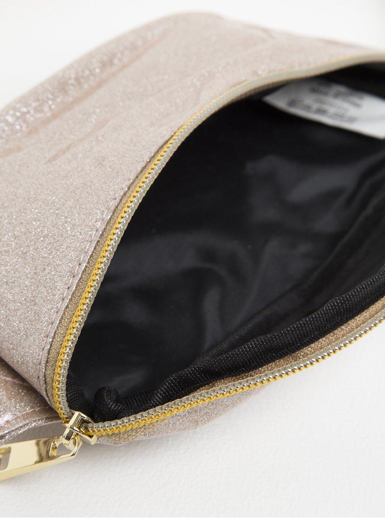 Béžová dámská třpytivá ledvinka Mi-Pac Bum Bag Glitter