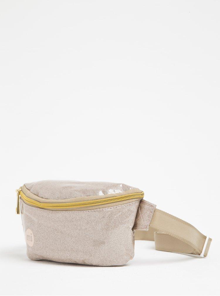 Borseta bej metalizat pentru femei - Mi-Pac Bum Bag Glitter