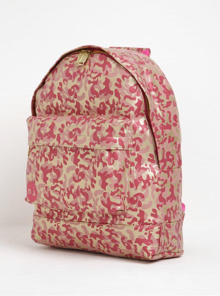 Rucsac roz&auriu pentru notebook pentru femei Mi-Pac Metallic Camo