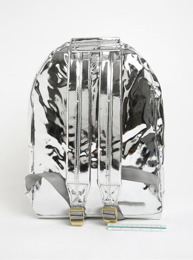 Dámský metalický batoh ve stříbrné barvě Mi-Pac Mirror 17 l