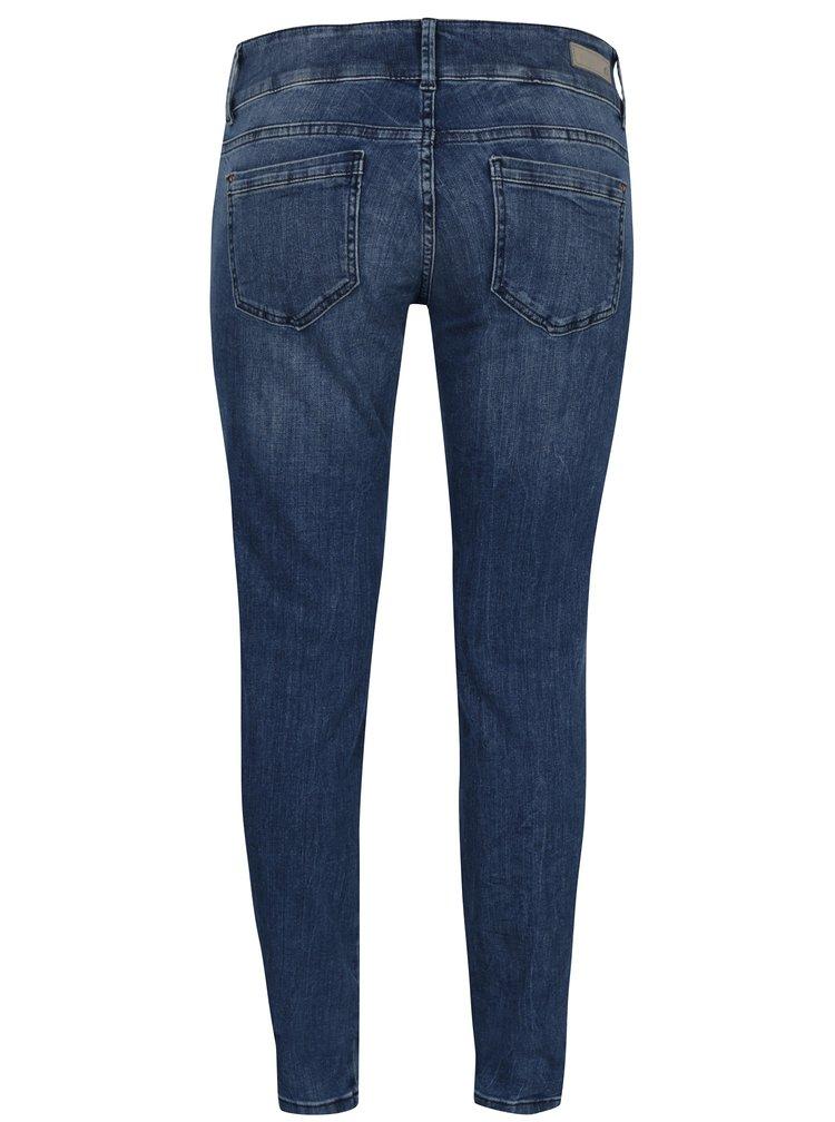 Tmavě modré dámské džíny s vyšisovaným efektem s.Oliver