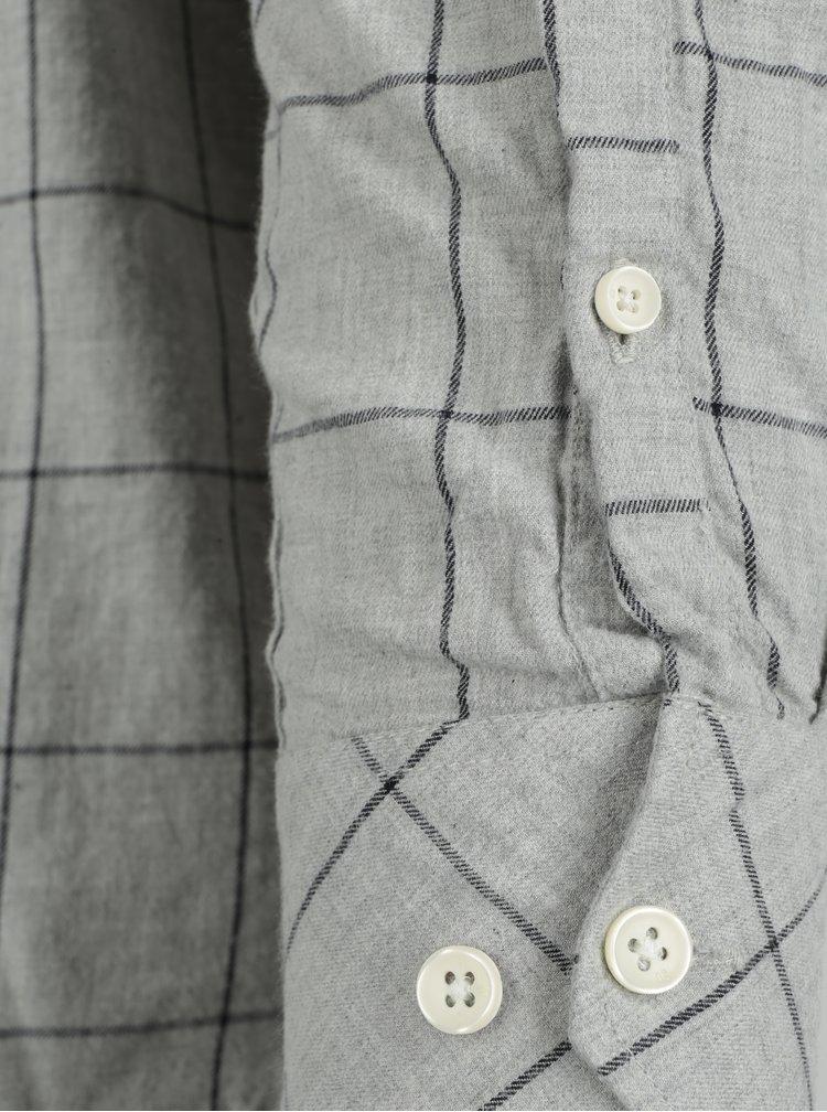 Camasa gri cu carouri pentru barbati Garcia Jeans