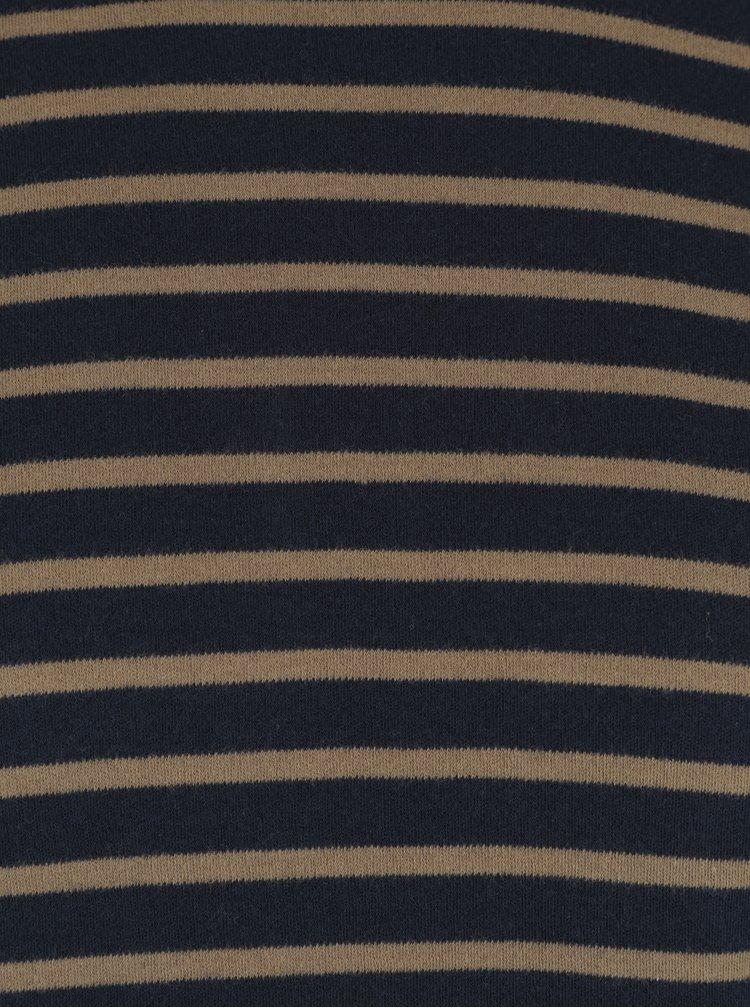 Khaki-modré pánské tričko s dlouhým rukávem Garcia Jeans