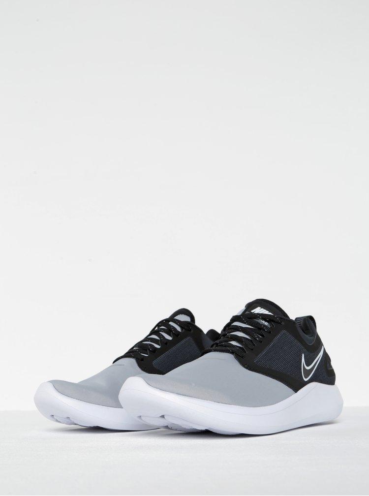 Pantofi sport gri cu negru pentru barbati Nike Lunarsolo