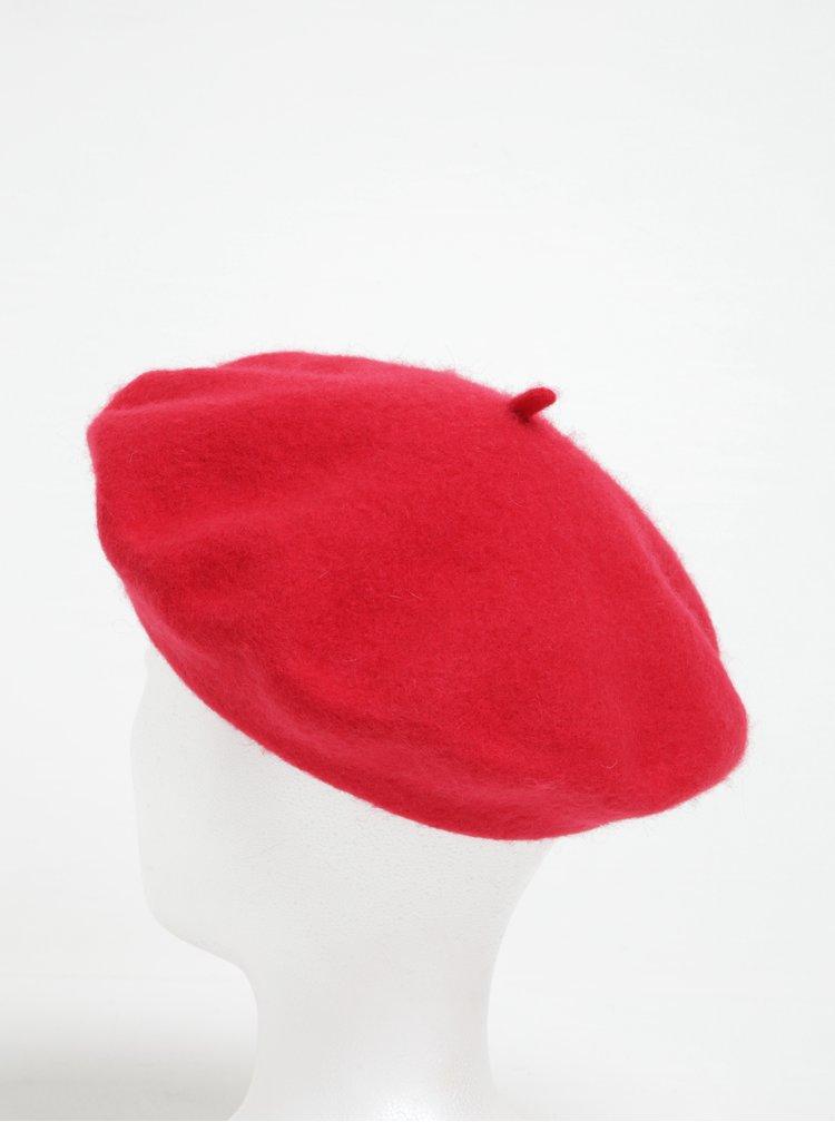 Bereta rosie din lana pentru femei VERO MODA Emily