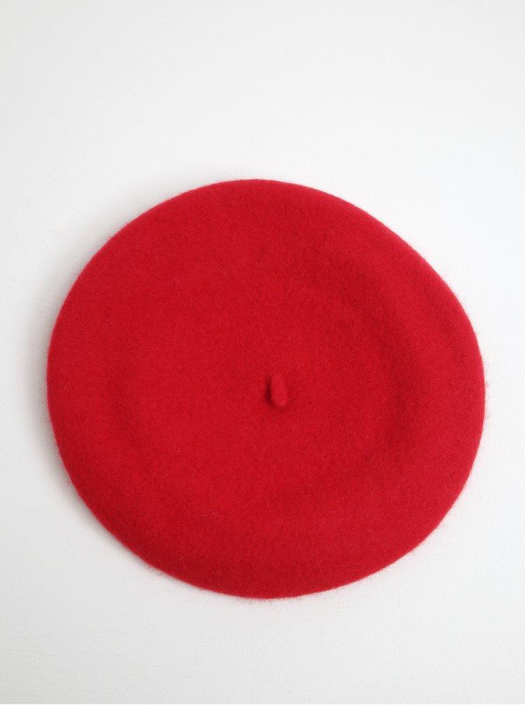 Beretă roșie din lână pentru femei VERO MODA Emily