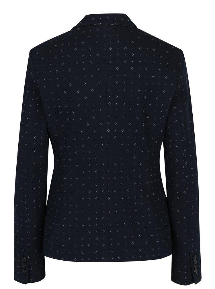 Sacou bleumarin cu print discret pentru femei - s.Oliver