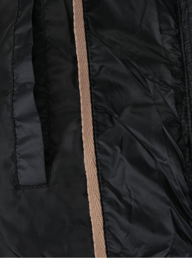 Černý dámský dlouhý bomber Garcia Jeans