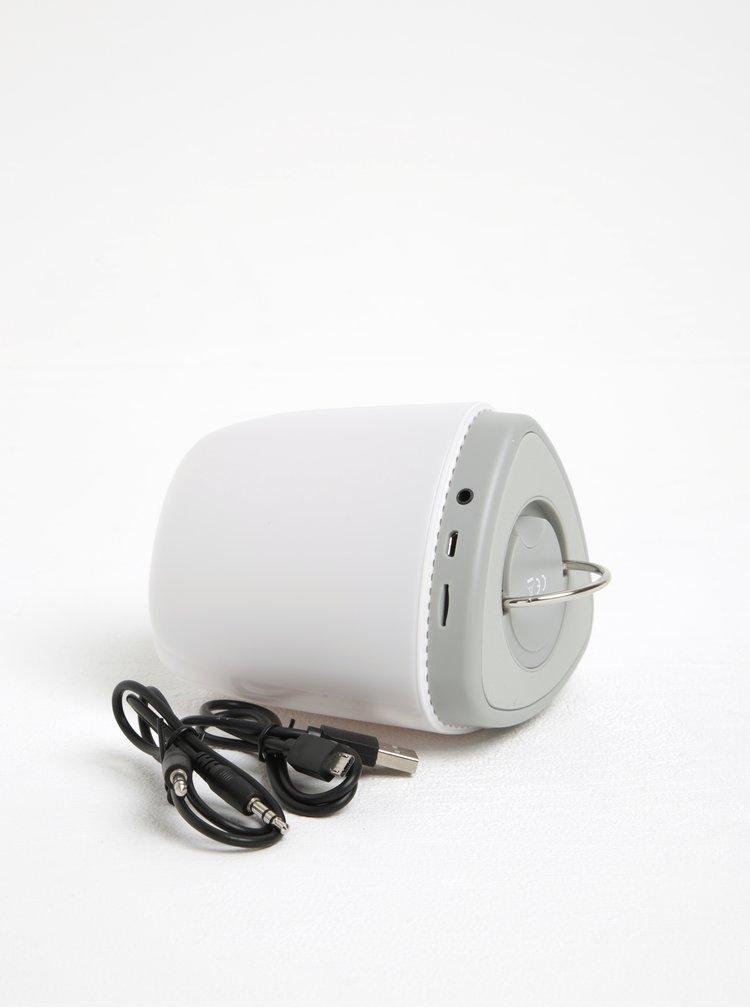 Bílý světelný reproduktor měnící barvu Loooqs