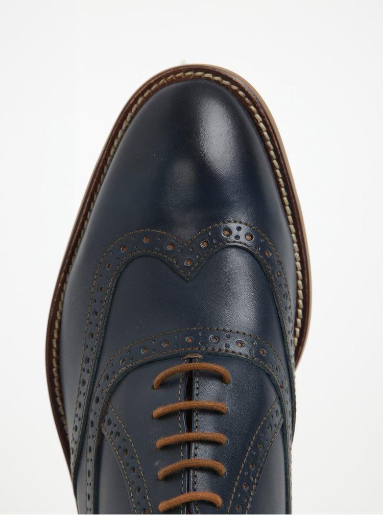 Pantofi brogue bleumarin din piele pentru bărbați - George Oxford