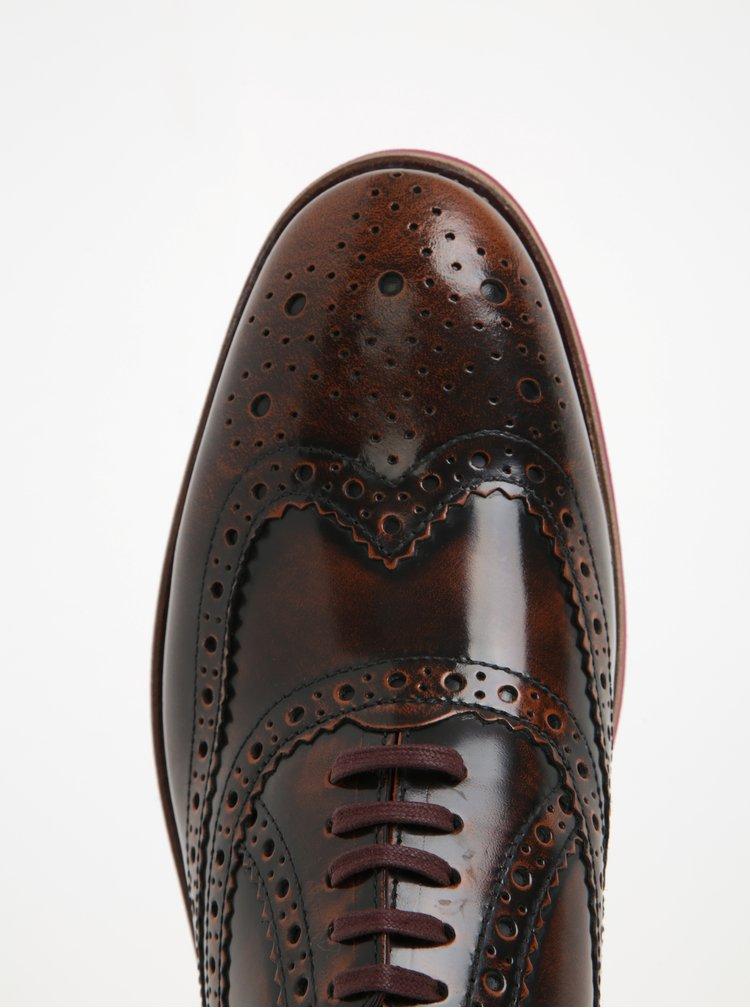 Pantofi brogue din piele lacuita pentru barbati - London Brogues Farnham