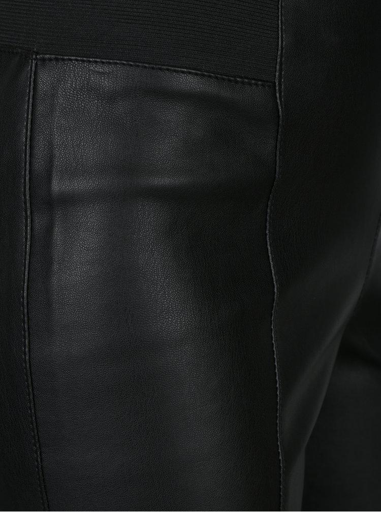 Černé koženkové legíny VERO MODA Siva