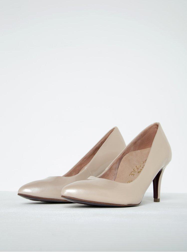 Pantofi roz pal cu toc mediu - Tamaris