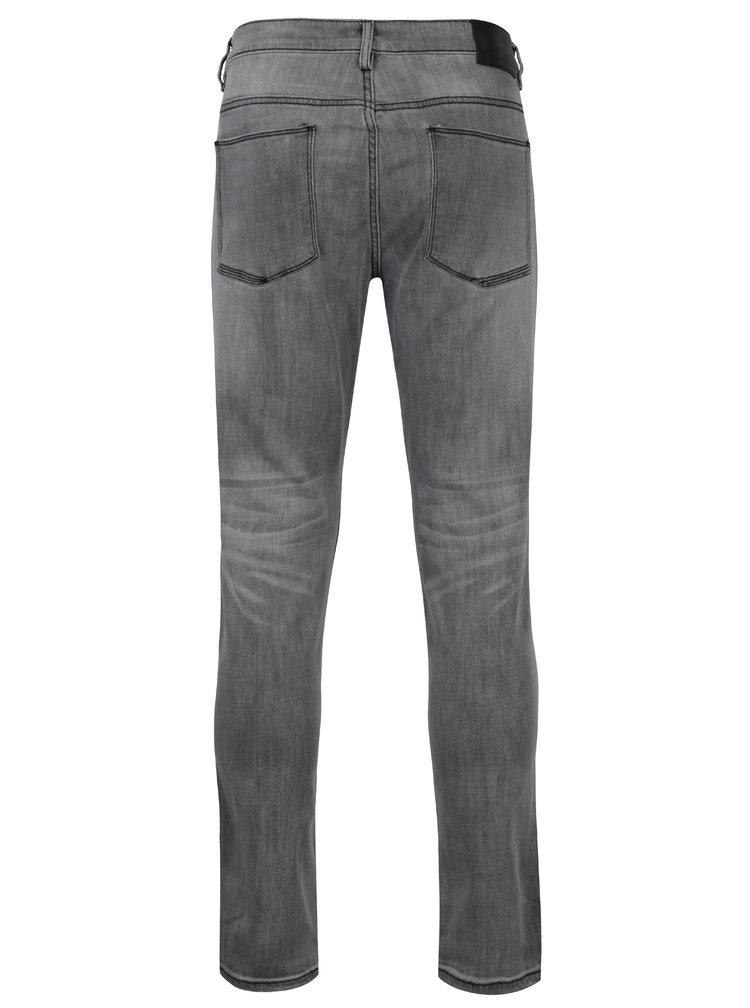Světle šedé pánské džíny s vyšisovaným efektem Broadway Tyler