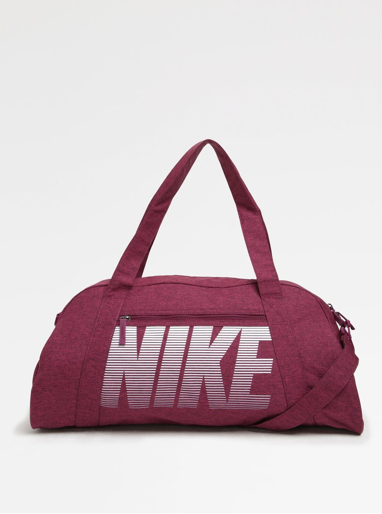 Růžová dámská sportovní taška s potiskem Nike Gym Club