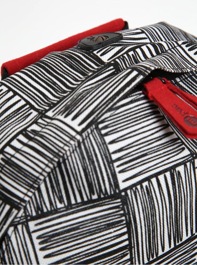Černo-krémový dětský vzorovaný batoh Mi-Pac Mini Scribble Check