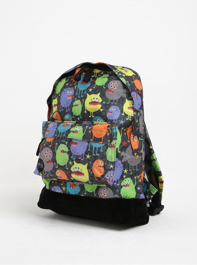 Černo-šedý dětský batoh s potiskem příšerek Mi-Pac Mini Monsters