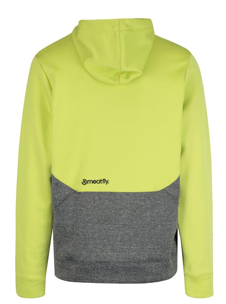 Hanorac verde&gri cu print logo pentru barbati MEATFLY Polygon