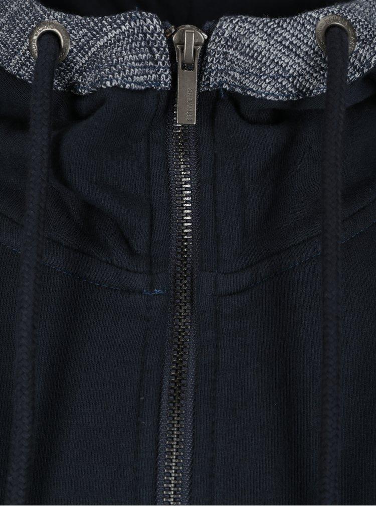 Tmavě modrá pánská mikina na zip s kapucí Garcia Jeans