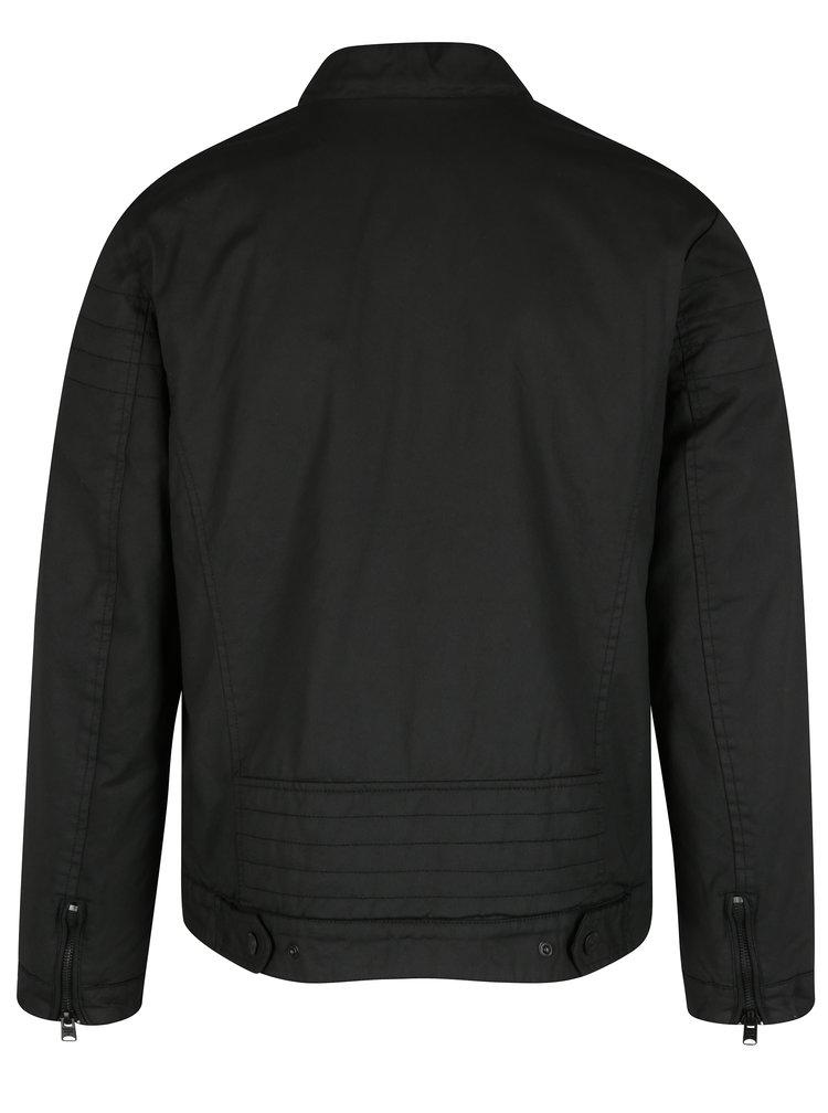 Jacheta neagra din denim cu aspect vopsit pentru barbati Garcia Jeans