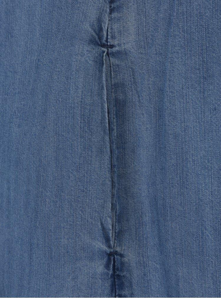 Světle modré džínové košilové midi šaty Garcia Jeans